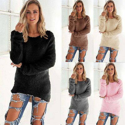 Fashion Women Loose Casual Long Sleeve Shirt Tops Blouse Ladies Sweater Top NEW