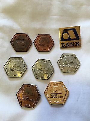 Bank Adelaide 1970's Tokens And  Badge