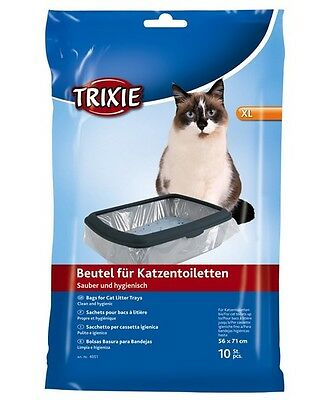 New 1 x Trixie 10 Bags Cat Litter Trays 56 × 71 cm Litter Tray Liners 4051