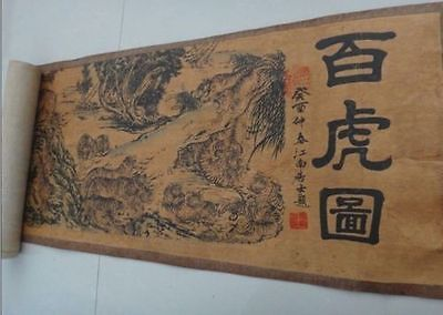 Collection Chinese Painting Scroll painting Figure 100 tiger