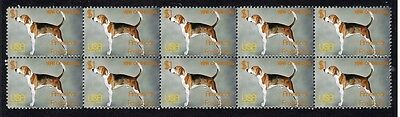 American Foxhound Year Of The Dog Strip Of 10 Mint Stamps 2