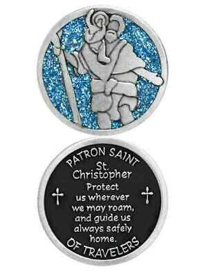 COMPANION COIN, ST CHRISTOPHER, PATRON SAINT OF TRAVELERS, W Message, Prayer or