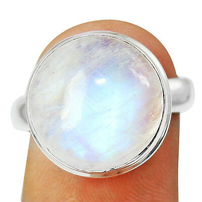 Rainbow  Moonstone 925 Sterling Silver Ring Jewelry Size- 6.75 SR-877