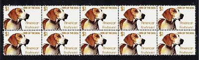 American Foxhound Year Of The Dog Strip Of 10 Mint Stamps 1