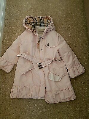 girls burberry coat age 3 stunning pink