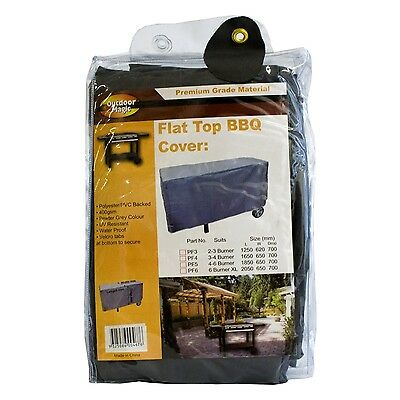 New Outdoor Magic - Premium BBQ Cover Flat Top (On Trolley) 6 Burner Extra Large