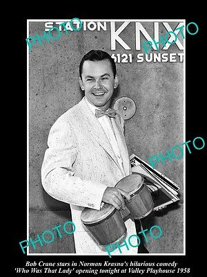 Old Large Historic Photo Of Hogans Heros Star Bob Crane At Valley Playhouse 1958