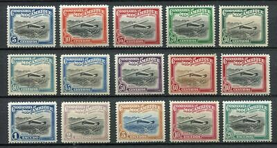 37395) COMP. DE MOZAMBIQUE 1935 MNH** Aircrafts - Air Mail 15v.