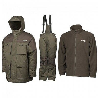 Chub NEW Carp Fishing Vantage 3 Piece All Weather Winter Suit *All Sizes*