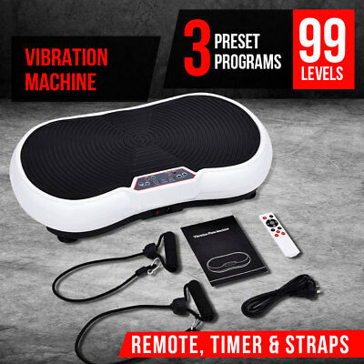 3500W Vibration Machine Exercise Plate Platform Body Shaper Fitness Trainer
