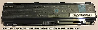 GENUINE NEW Battery TOSHIBA SATELLITE PA5024U-1BRS ORIGINAL for C800 Series