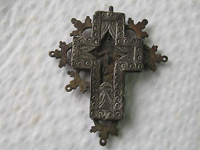 Outstanding Post Medieval Pectoral Reliquary Orthodox Silver Cross