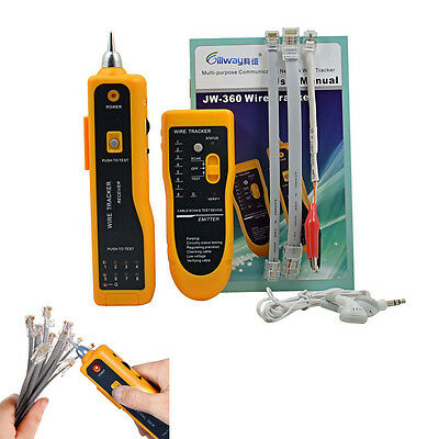 Telephone Tracer Network RJ45/1 Cable Tester Line LAN Toner Electric Wire Finder