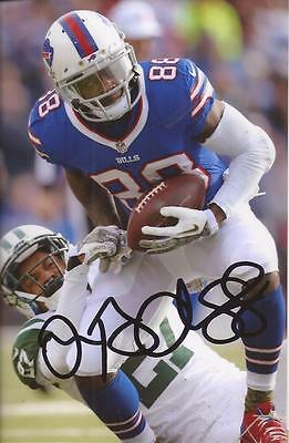 BUFFALO BILLS: MARQUISE GOODWIN SIGNED 6x4 NFL ACTION PHOTO+COA **PROOF**