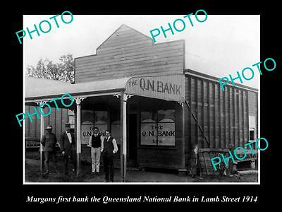 Old Large Historic Photo Of Murgon Qld, Queensland National Bank Building 1914