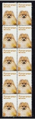 Pomeranian Year Of The Dog Strip Of 10 Mint Stamps 2