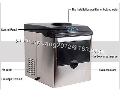 25KG/24Hour Commercial Automatic Ice Cube Maker Machine,8~10 min Once ice out