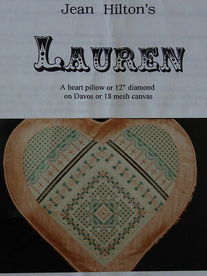 Jean Hilton's Lauren  Counted thread embroidery for canvaswork or linen NEW