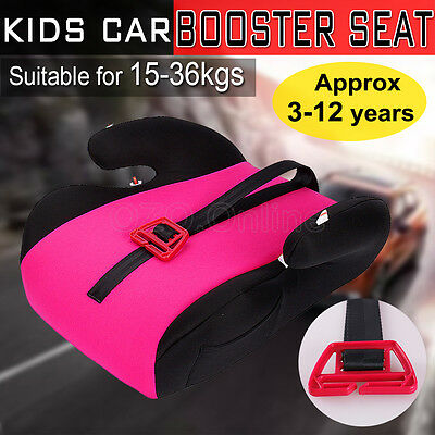 Car Booster Seat Safe Sturdy Baby Children Kid Fit 3 to 12 Years 15-36kg Pink AU