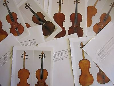 Collection of 10 Violin pictures for framing, card making, scrapbooking etc