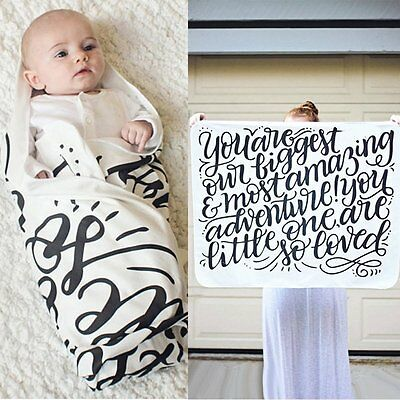 Soft Cotton Baby Infant Swaddle Wrap Blanket Sleeping Bag Towel For 0-24 Months