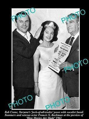 OLD LARGE HISTORIC PHOTO OF HOGANS HEROS STAR BOB CRANE AT MOVIE PREVIEW c1963