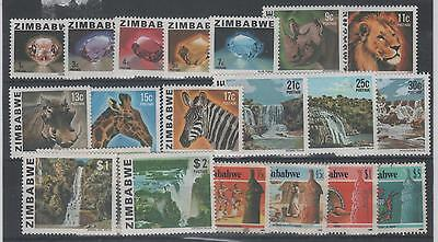 Zimbabwe  Set Of 19  1980-85 Animals, Views Etc.