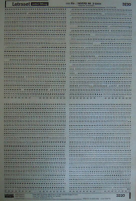 LETRASET Rub On Transfers UNIVERS 66 : 8pt (2mm) #3220 used