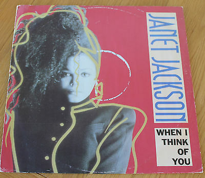 """JANET JACKSON * WHEN I THINK OF YOU * Classic Soul Funk Boogie 12"""" Vinyl"""