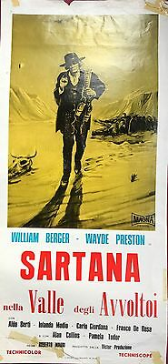 SARTANA AND THE VALLEY OF VULTURES - Original SPAGHETTI Western  Film Poster
