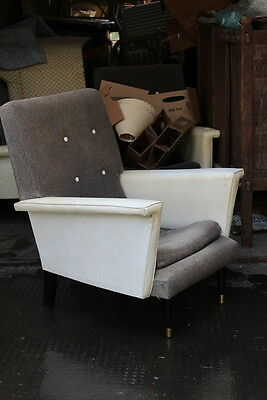 pair 1950's armchairs