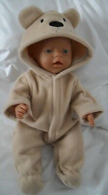 """17"""" Onesie  Dolls Clothes Handmade To Fit 43Cm Baby Born Doll Or Sim"""