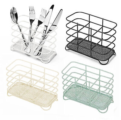 Addis Wire Cutlery Holder Kitchen Sink Side Utility In White Red Lime Or Black