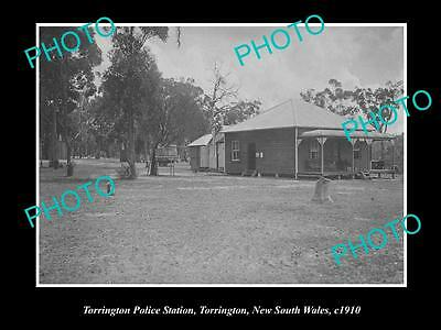 OLD LARGE HISTORIC PHOTO OF THE TORRINGTON POLICE STATION NSW c1910, TENTERFIELD