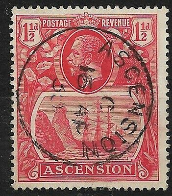 Ascension 1924 KGV, Definitive Rose Red 1½ d  SG12  VFU