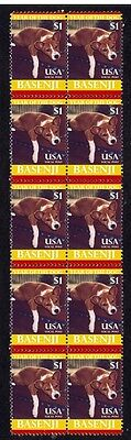 Basenji Strip Of 10 Mint Year Of The Dog Stamps 5