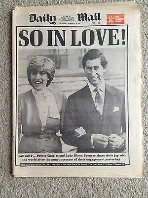 Daily Mail newspaper 25th February 1981 Princess Diana