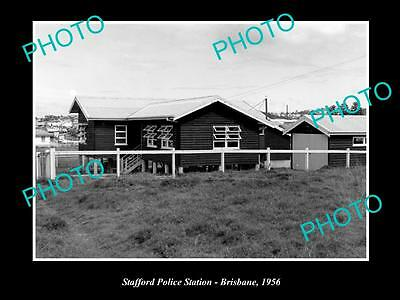 OLD LARGE HISTORIC PHOTO OF BRISBANE QLD, THE STAFFORD POLICE STATION c1956