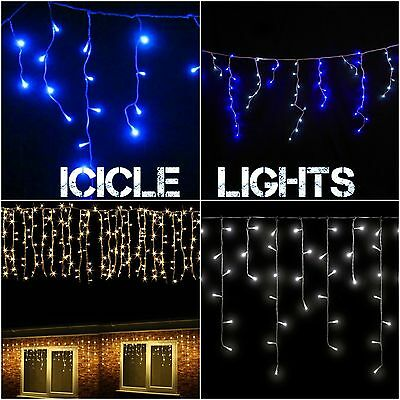 7M 360 LED Christmas Icicle Fairy Snowing Lights Xmas Outdoor Light Decoration