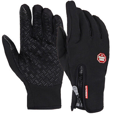 Unisex Winter Warm Weather proof Thermal Lined Anti Slip Touch Screen Ski Gloves