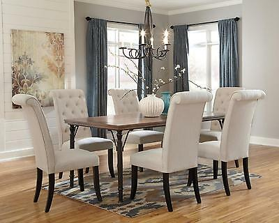 Ashley Tripton Contemporary 7 Pc Dining Table Upholstered Chairs Set