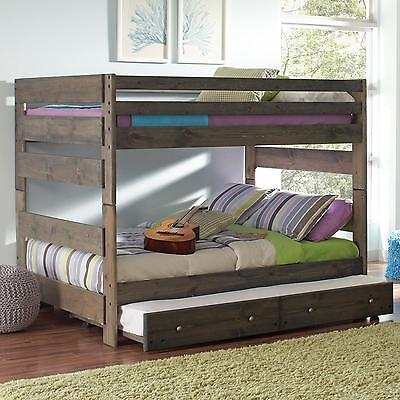 Coaster 400833 836 Wrangle Hill Youth Full Size Bunk Bed With Trundle