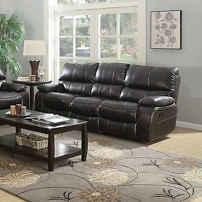 Coaster 601931 Willemse Reclining Sofa In Two Tone Dark Brown Finish