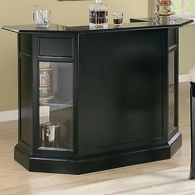 Coaster Furniture 100175 Inwood Bar Unit Black Finish With Wine Rack