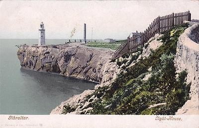 Vintage UNDIVIDED BACK postcard - GIBRALTAR - LIGHT-HOUSE