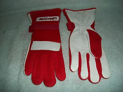 Simpson 22100Sr Racing Gloves Red Small S Imca Posi Grip Race Nomex Safety Mod