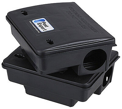 Pest Expert® Rat & Mouse Bait Stations (x2), Heavy Duty, Locking