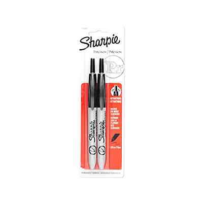 Sharpie Retractable Ultra Fine Point Permanent Markers, 2 Black Markers1735801 .