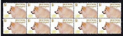 Samoyed Year Of The Dog Strip Of 10 Mint Stamps 5