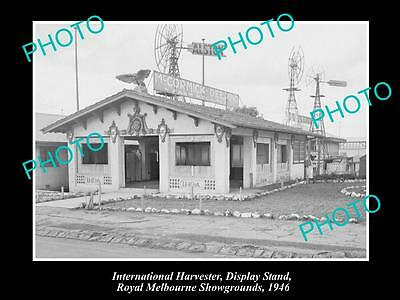 OLD HISTORIC PHOTO OF INTERNATIONAL HARVESTER MELBOURNE SHOW DISPLAY c1946, VIC